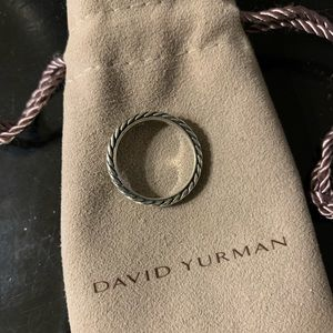 Authentic David Yurman Sterling Silver stack band